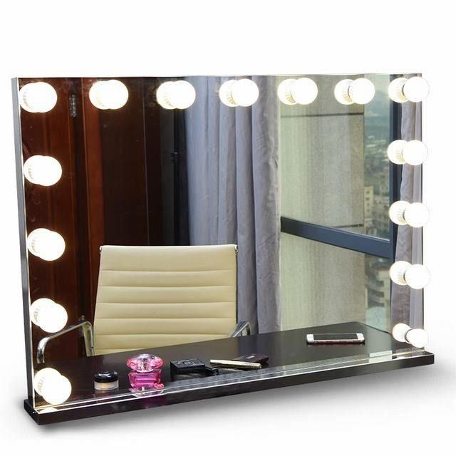 Tabletop Lighted Led MakeUp Mirror Professional Hollywood Vanity Mirror